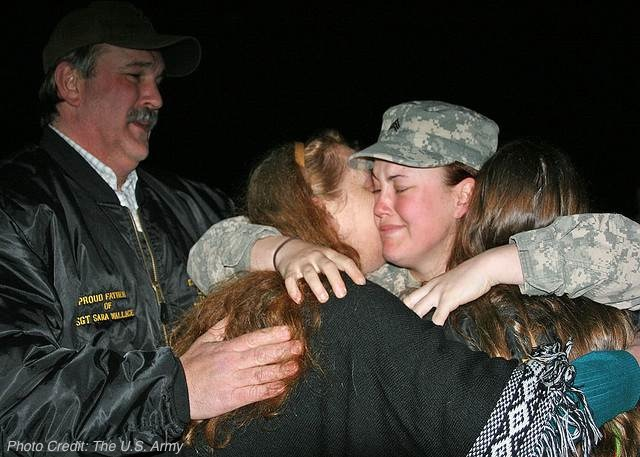 Daughter Home From Afghanistan