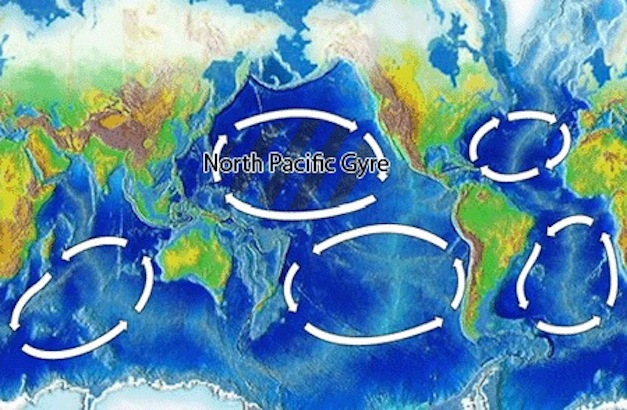 North Pacific Gyre World Map